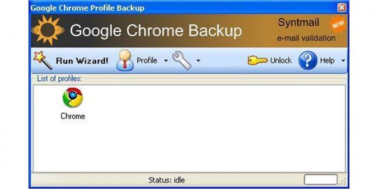 Backup google chrome