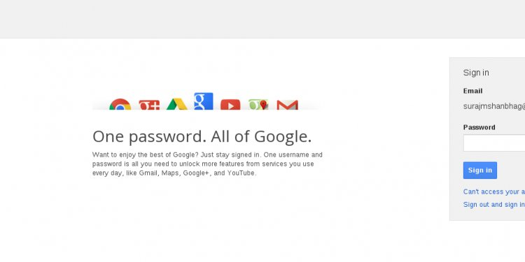 The gmail and other goggle
