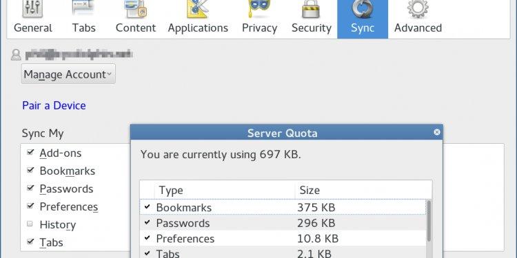 A firefox sync server (API