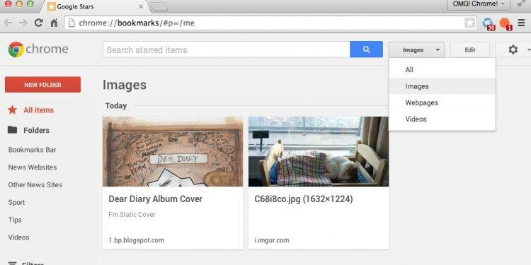 Google stars filters