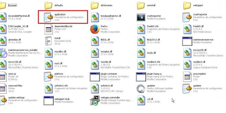 Mozilla Firefox folder: