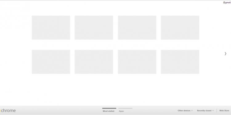 Google Chrome Old New Tab Page