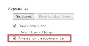 constantly show bookmarks button