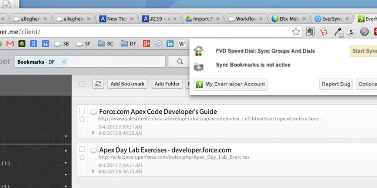 Sync Chrome and Firefox bookmarks